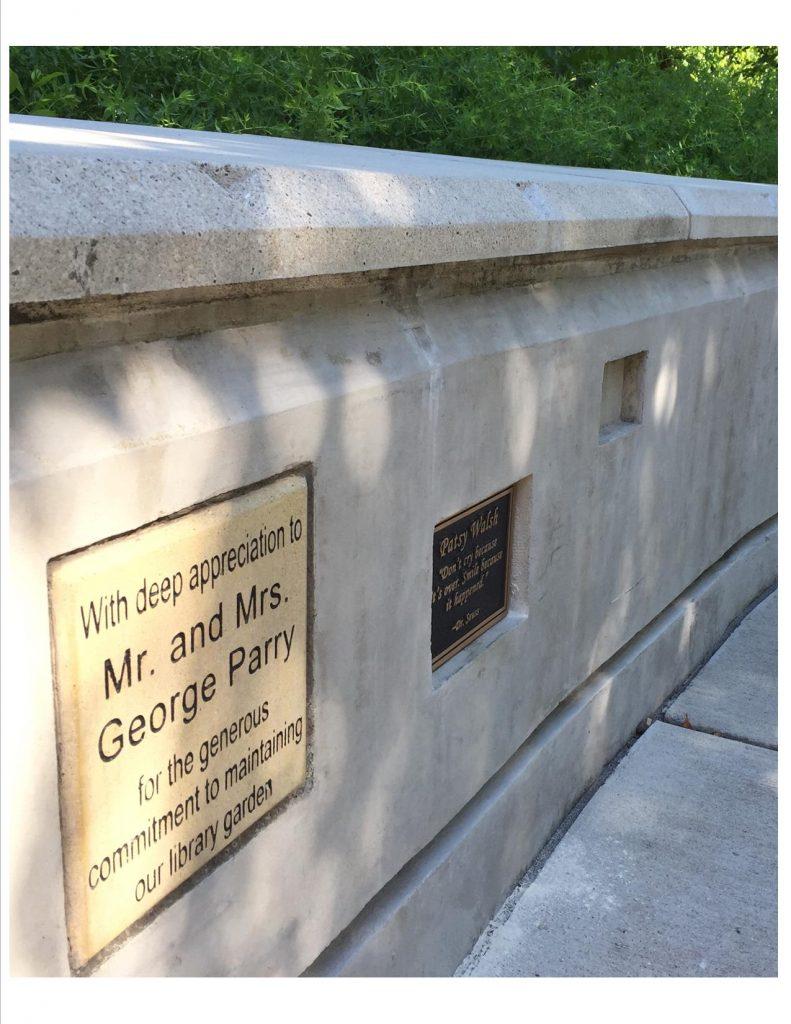 Smedinghoff Memorial Garden Plaques