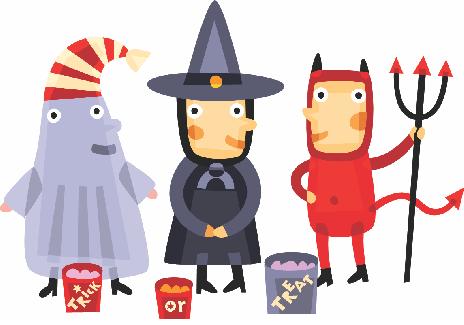 family fireside halloween
