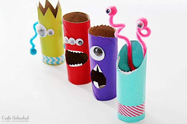 October diy monsters river forest public library Kids toilet paper holder