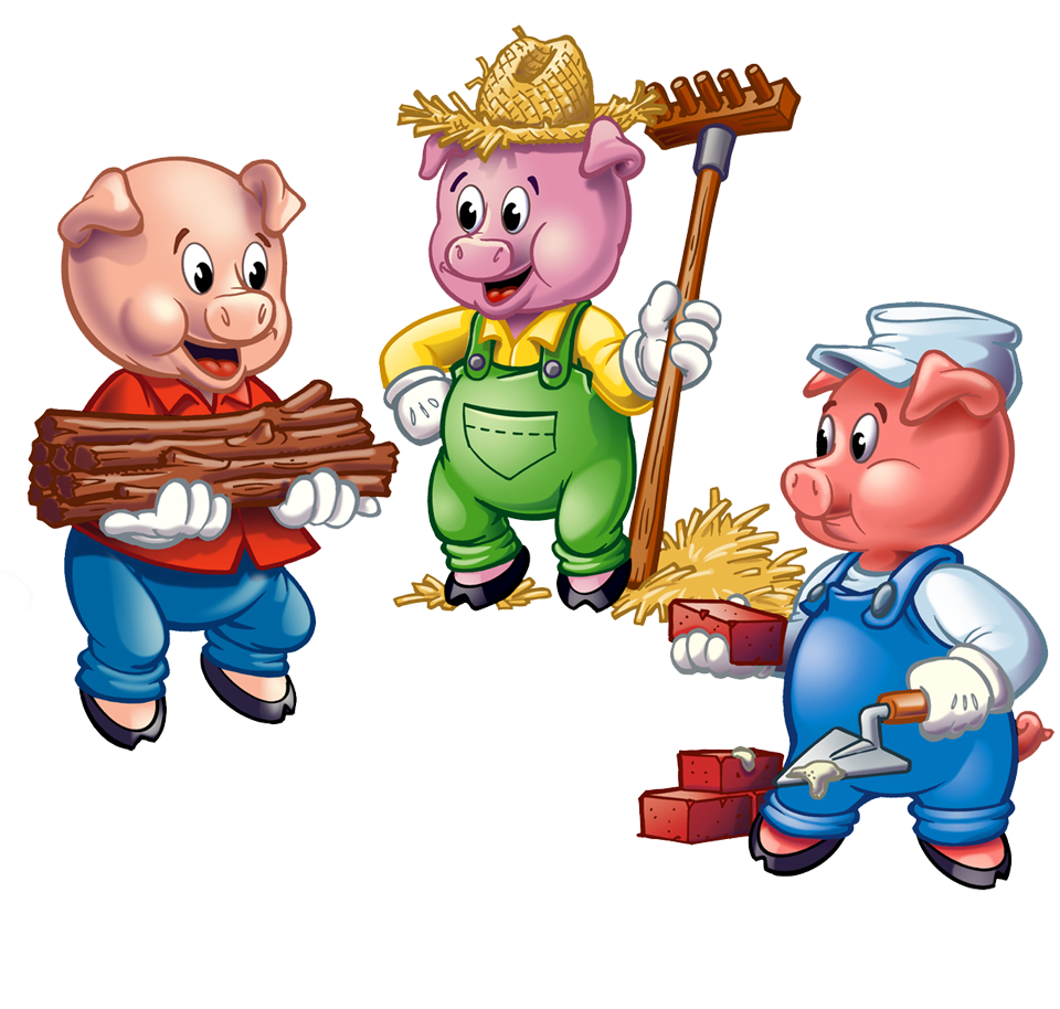 friday  7  28  10 11 am  3 little pigs story time river three little pigs clip art single three little pigs clip art outline