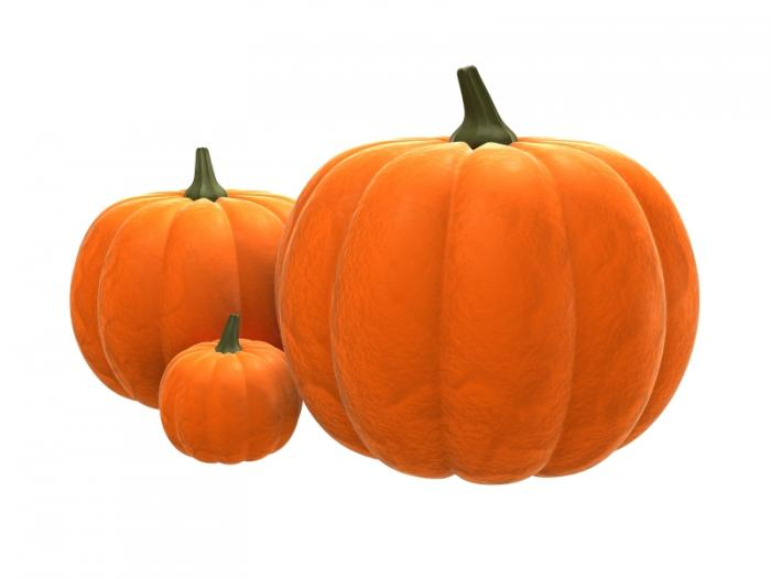 three pumpkin